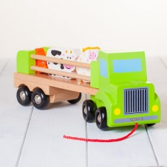 Children's Personalised Wooden Farm Lorry