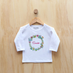 Floral Wreath longsleeve t-shirt