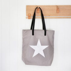 Tote Bag with Star Graphic