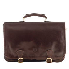 The Jesolo Mens Full Grain Leather Business Satchel