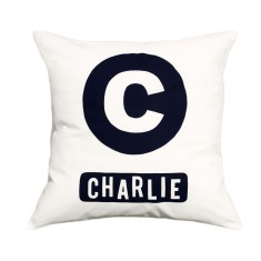 Alphabet personalised cushion cover (various colours)