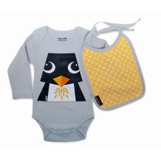 Penguin set onesie and bib