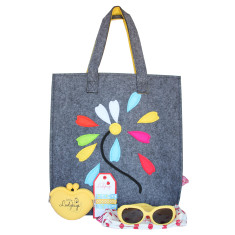 Little Lady Felt Tote Bag Sun Pack