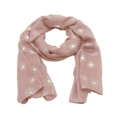 Dandelion foil scarf in dusty rose