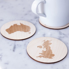 Personalised map drinks coaster