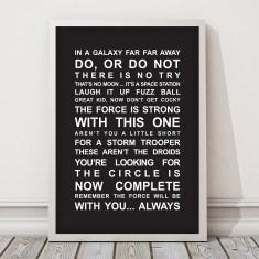 Star Wars Movie Quotes Print