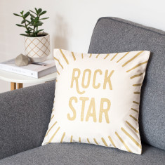 Rock Star Metallic Cushion Cover
