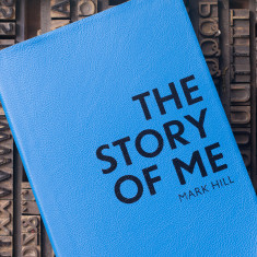 Personalised The Story Of Me leather undated journal/notebook