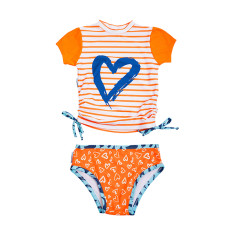 Two piece set in Love Heart Popsicle