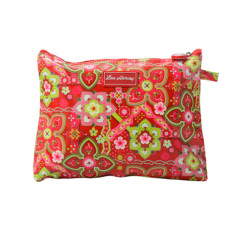 Large cosmetic, clutch or nappy bag in Zoe print