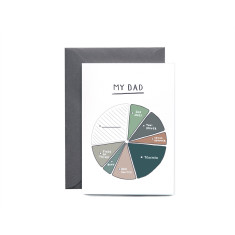 My Dad - A Pie Chart Greeting Card