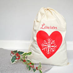 Personalised Traditional Christmas Sack