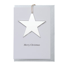 Silver star decoration card