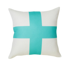 Aqua cross cushion cover