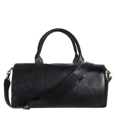 Succession leather duffle in black