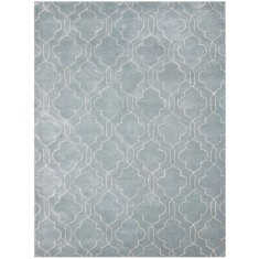 City aqua gray hand tufted rug