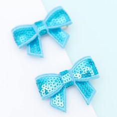 Sequin bow hair clips (bright colours)