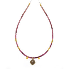 Faceted Pink Tourmaline Necklace