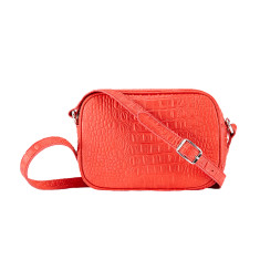Red Leather Madrid Cross Body Bag