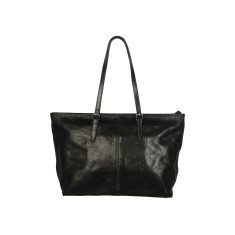 Elena full grain work bag in black