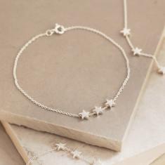 Delicate Sterling Silver Stars Bracelet