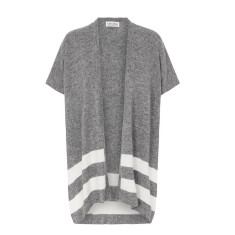 Striped Cashmere Cape in Grey