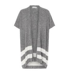 Striped Cashmere Cape in Grey