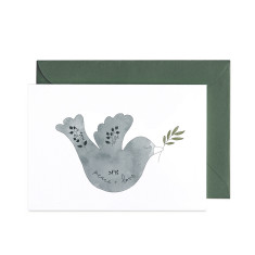Christmas Peace Dove greeting card