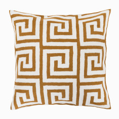 The maze hand loomed woollen cushion cover in brown