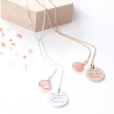 Personalised Lariat Gemstone Necklace