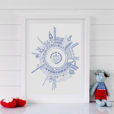 Alice In Wonderland Story Print