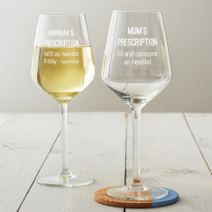 Personalised Prescription Wine Glass