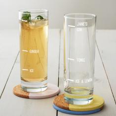 Personalised Large Measure Hi Ball Glass