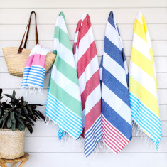 The classic Turkish towel in various colours