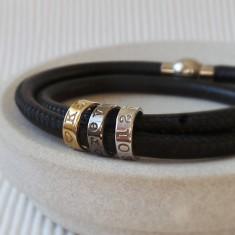 Three ring story bracelet