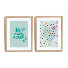 Hello My lovely in Blue art prints (set of 2)