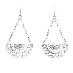 Ottoman Hanging Earrings in Sterling Silver