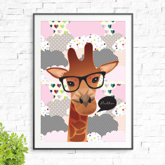 Smart giraffe print (various colours)