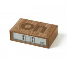 Light Wood Flip LCD alarm clock