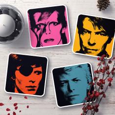 David Bowie Pop Art Coasters (set of 4)