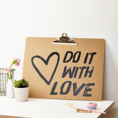 Do It With Love Clipboard