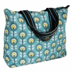 Tamelia cotton canvas Blue Pincushion tote bag