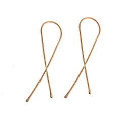 Ribbon Earrings in Rose gold, Yellow gold or sterling silver