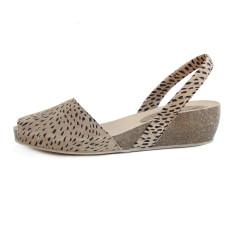 Cardona leather wedge sandals in lynx