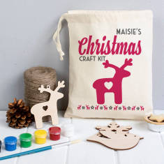 Personalised Christmas Decoration Craft Kit In A Bag