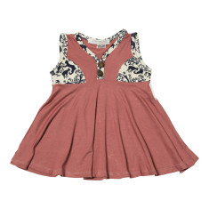 Elizabeth summer dress in peony and bamboo
