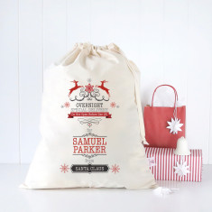 Overnight special delivery personalised Santa sack