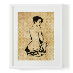Audrey pin-up girl print