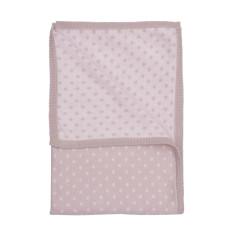Reversible diamond knit pram blanket in fog/marshmallow