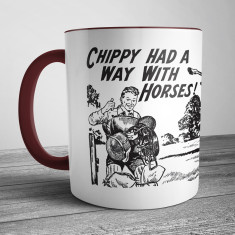 Retro Illustration Mug Chippy Had A Way With Horses